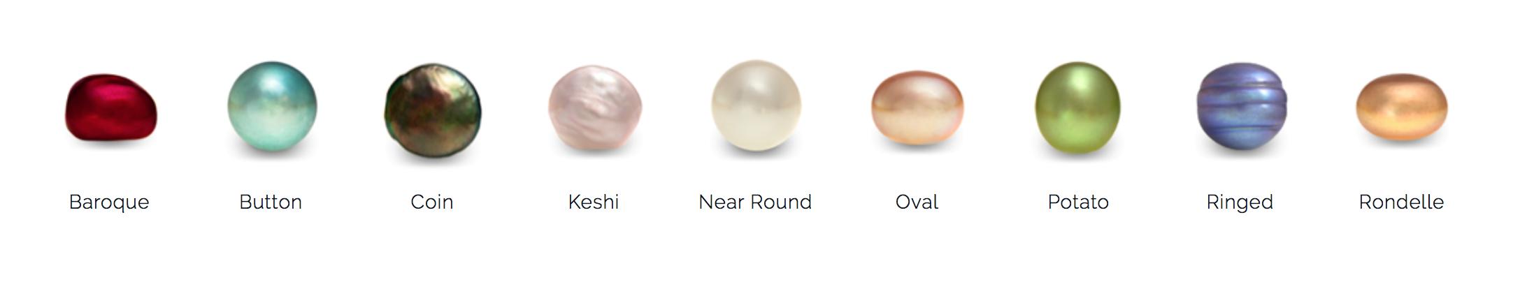 formes des perles