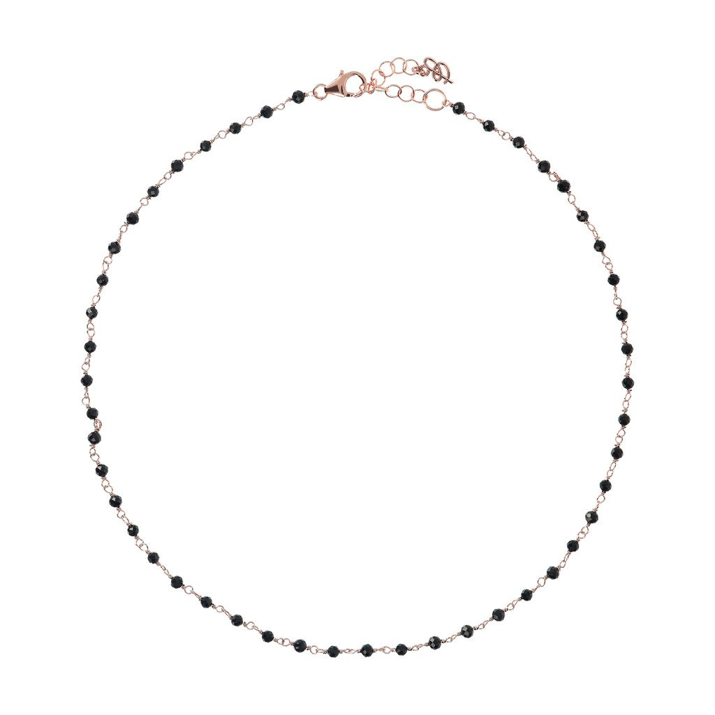 Collier Bronzallure Black-Spinel-Amorette-Necklace-BLACK-SPINEL